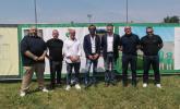 La giunta comunale e i vertici della società Rozzano Calcio.