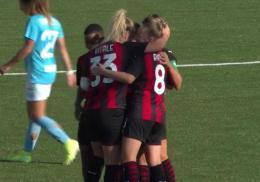 Napoli - Milan Serie A Femminile: Goldoni spaventa Ganz alla fine passa il Milan