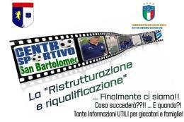 San Bartolomeo, una videoconferenza annuncia l'avvio dei lavori per il centro sportivo. Il presidente Gianfranco Lenza: «Finalmente qualcosa si è mosso»