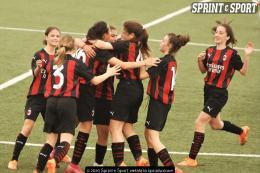 Juventus-Milan Under 15 Femminile: Donolato si traveste da diavolo e gela le bianconere dal grande cuore
