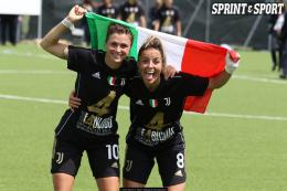Juventus-Napoli Serie A Femminile: la fotogallery della festa Scudetto