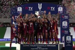 Milan-Roma Coppa Italia Femminile: rigori maledetti per Ganz, le giallorosse vincono la prima Coppa Italia della loro storia