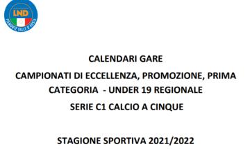 Calendari Piemonte VdA 21/22