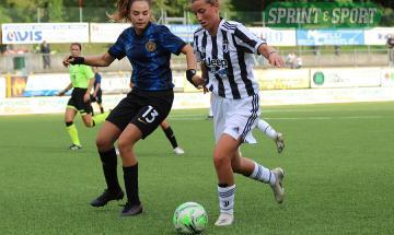 Giulia Robino (Juventus) e Giorgia Beduschi (Inter)