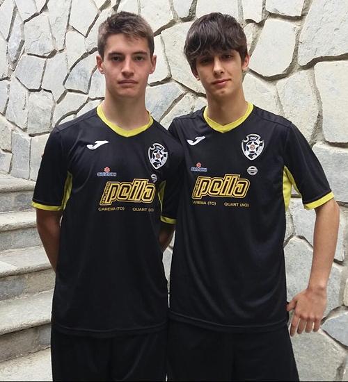 Gianluca Pantani, Davide Lago, Quincitava Under 17