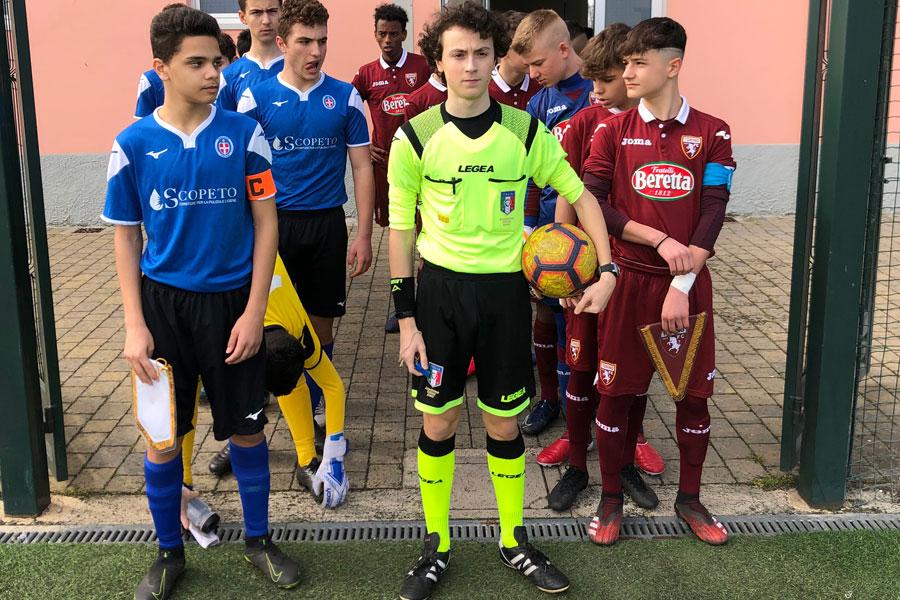 Novara - Torino - Under 14: L'arbitro Porzio di Novara