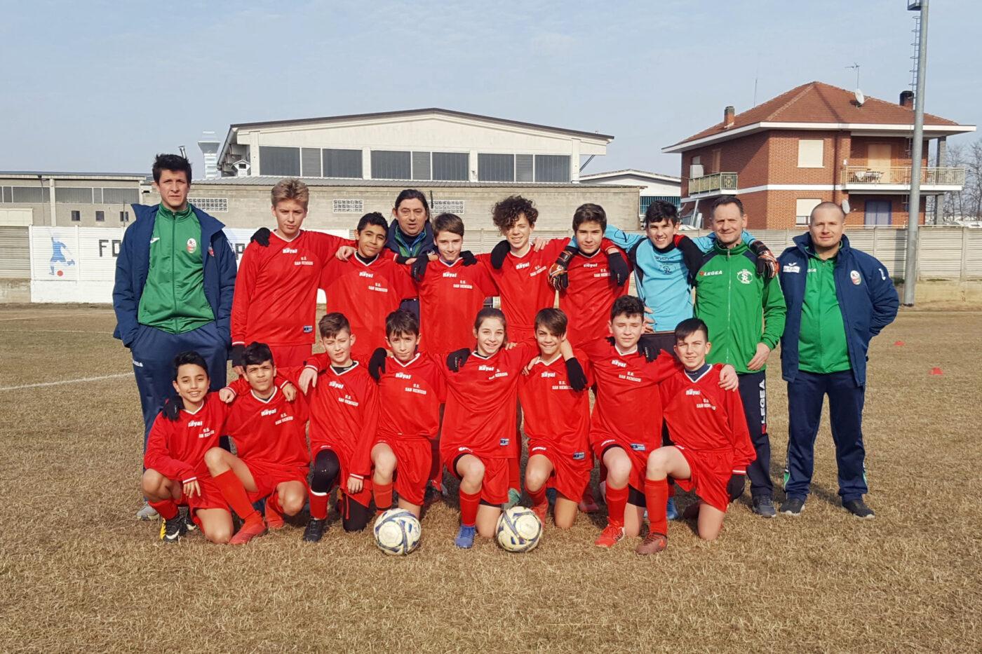 La squadra del San Remiglio under 14 che ha perso contro il Santena