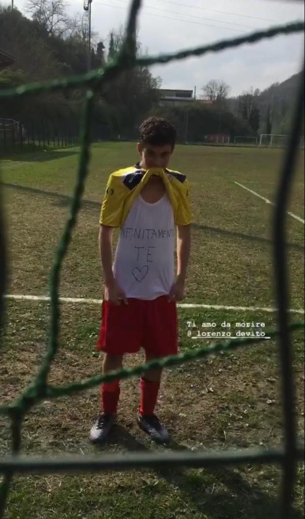 Lorenzo De Vito, dedica del gol alla fidanzata