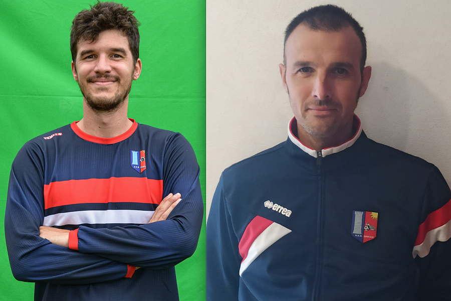 Federico Bosco (vice allenatore) e Luca Brignoli (team manager)
