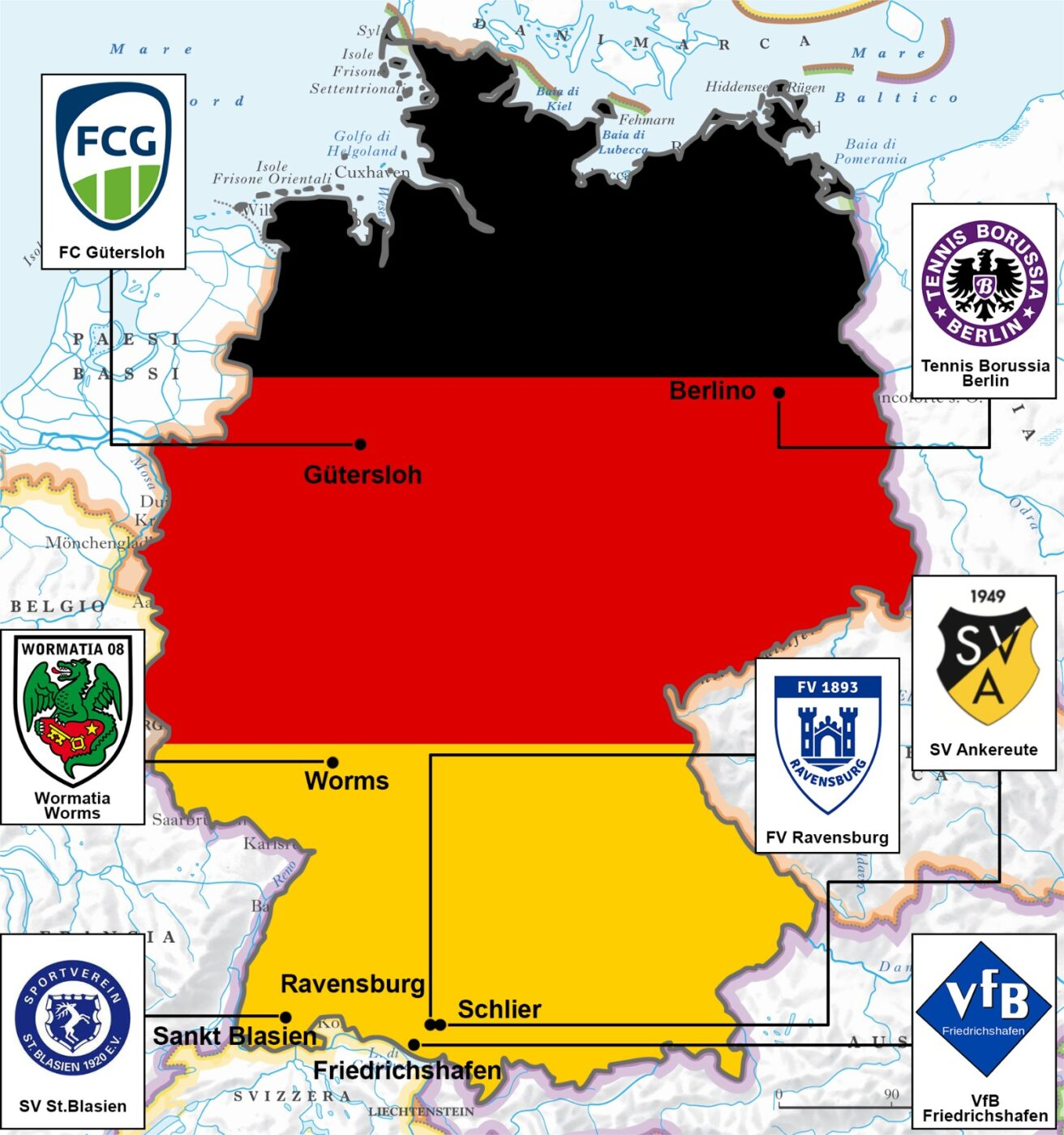 Germania loghi (foto Pietro Patrizi)