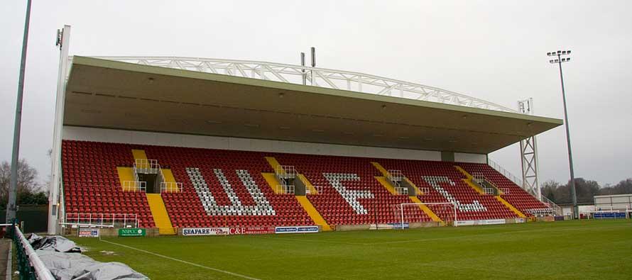 il Kingfield Stadium di Woking