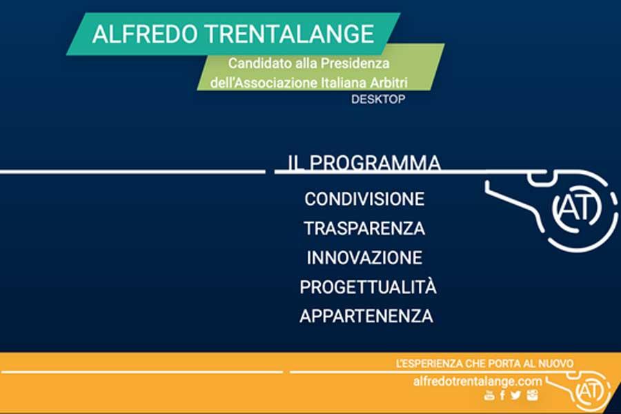 Il programma del Candidato Presidente Aia, Alfredo Trentalange