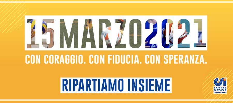 Il Csi Milano fissa per il 15 marzo la ripartenza dei campionati