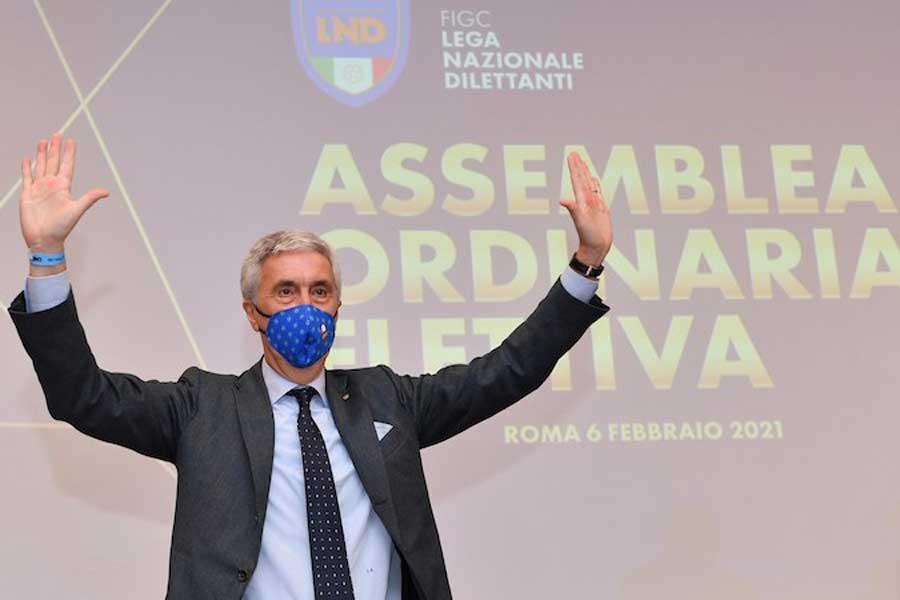 Cosimo Sibilia rieletto Presidente della Lnd (foto: www.lnd.it)