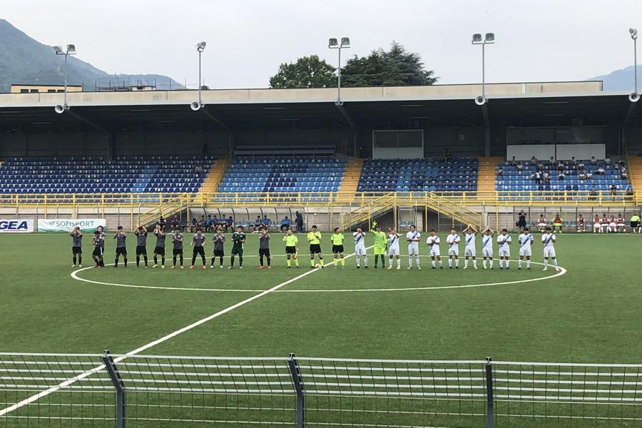 Lecco-Alessandria Under 17 foto ingresso in campo