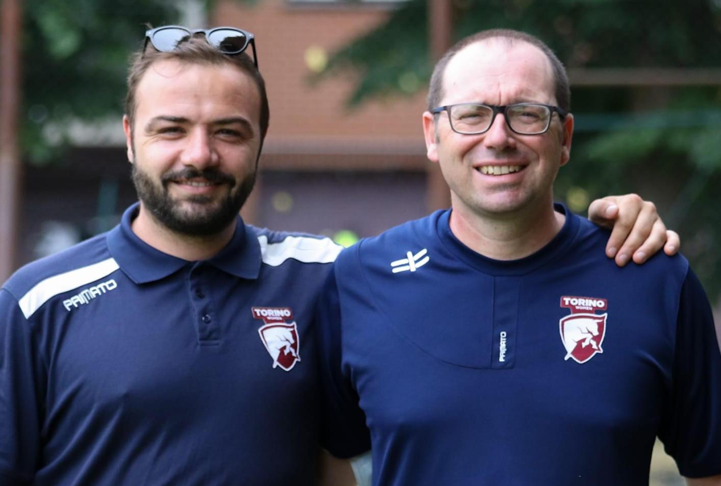 Il Direttore Sportivo, Gianluca Vitale e il tecnico Gianluca Petruzzelli (foto Valletta)